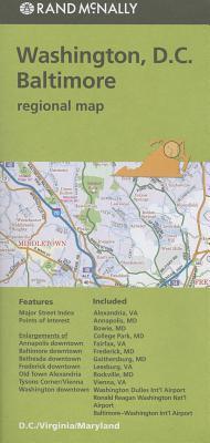 Rand Mcnally Washington D.c./Balitmore Regional Map By Rand McNally and Company (COR)